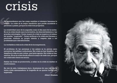 La verdadera crisis es la crisis de la incompetencia