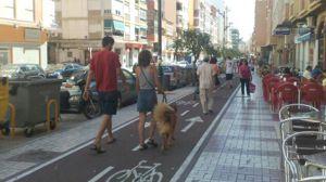 Hasta 90 euros de multa si un peatón va por el carril-bici
